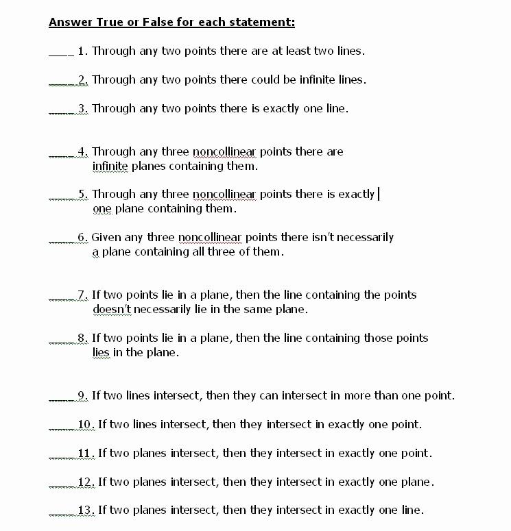 True or False Test Template Unique True False Math Worksheets True Best Free Printable