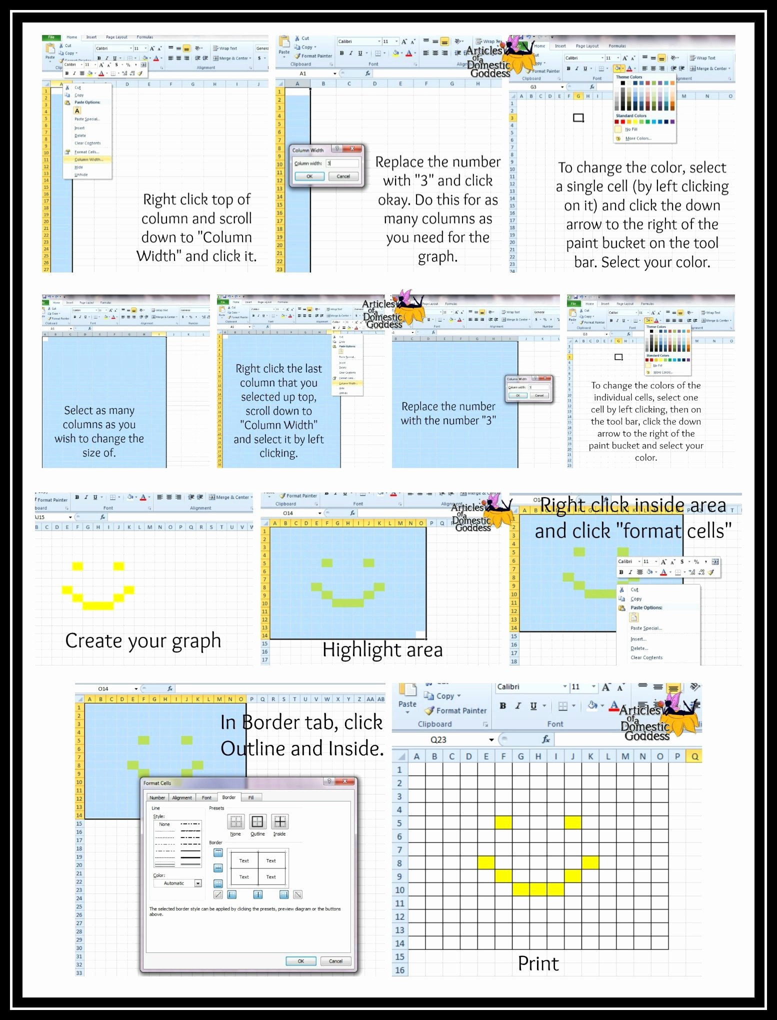 Turn Excel Into Graph Paper Awesome Pin by Donna Knox On Moogly Munity Board