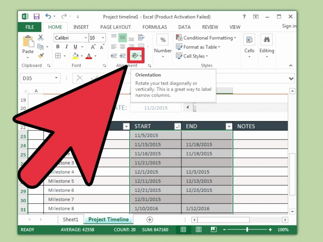 Turn Excel Into Graph Paper Best Of 3 Ways to Create A Timeline In Excel Wikihow Turn