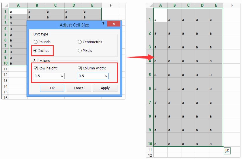Turn Excel Into Graph Paper Unique How to Create Grid Paper Square Template In Excel
