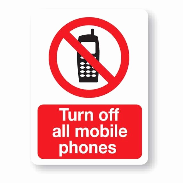 Turn Off Cell Phone Sign Awesome P30rp Turn Off All Mobile Phones Sign