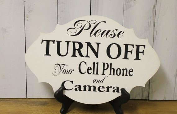 Turn Off Cell Phone Sign Awesome Please Turn Off Your Cell Phones Camera Ceremony Sign event