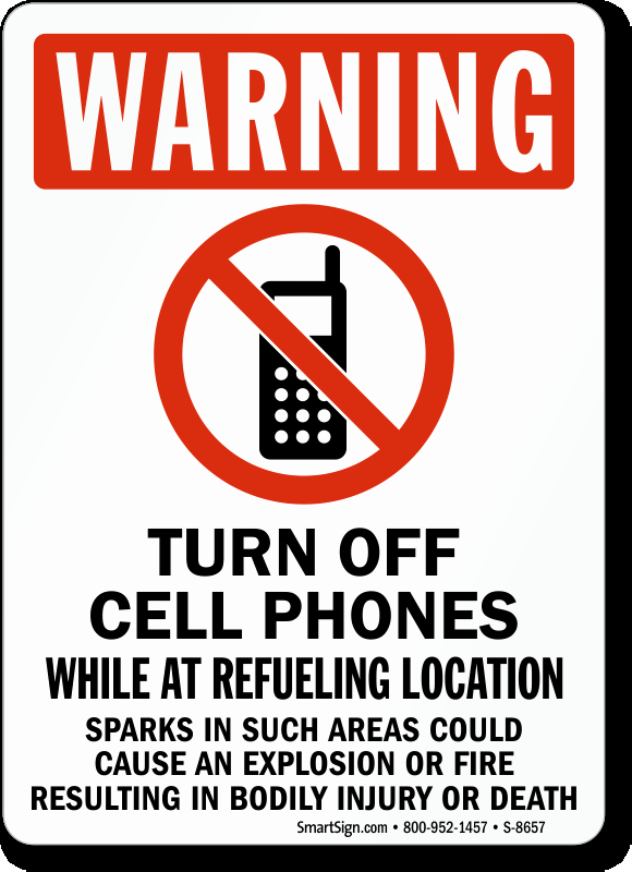 Turn Off Cell Phone Sign Awesome Turn F Cell Phones while Refueling Signs Warning Sku