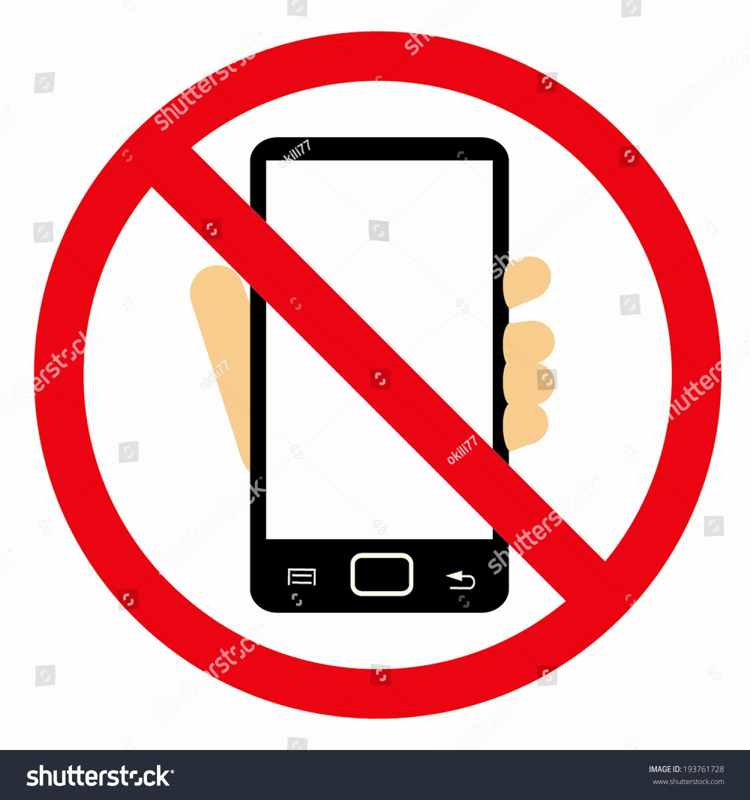 Turn Off Cell Phone Sign Elegant Turn F Your Mobile No Cell Stock Vector