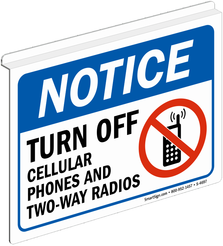 Turn Off Cell Phone Sign Fresh Notice Turn F Cellular Phones Radios Sign Sku S 4697