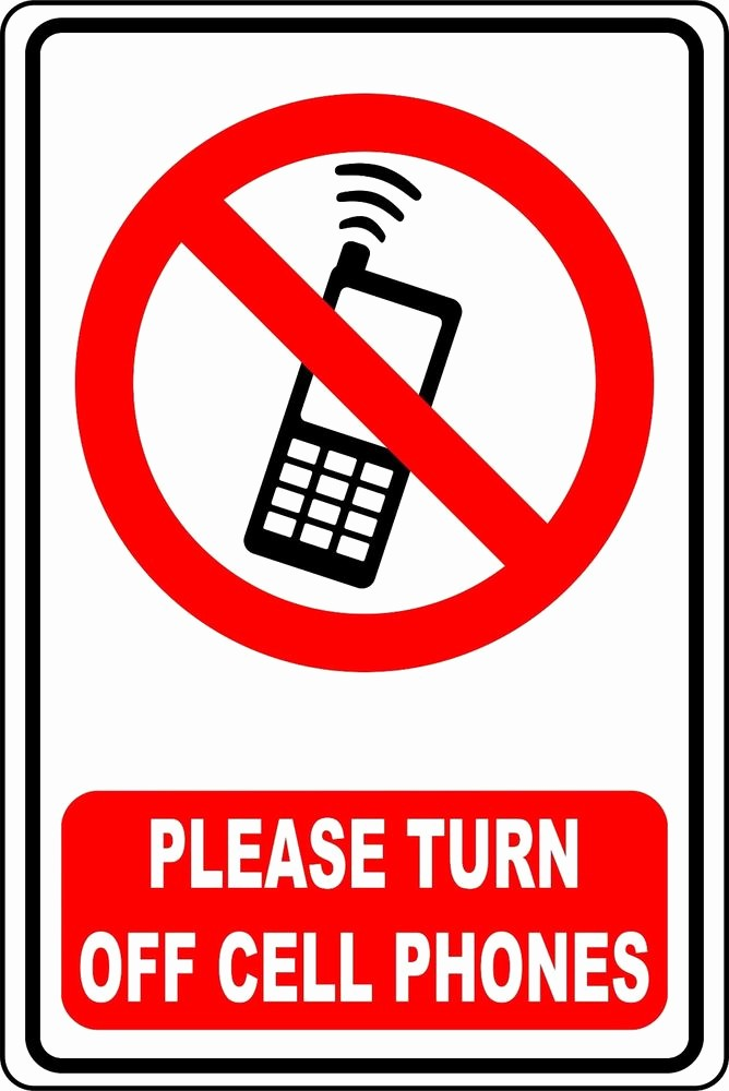 Turn Off Cell Phone Sign Inspirational Please Turn Off Cell Phone Aluminum Sign 8 X 12