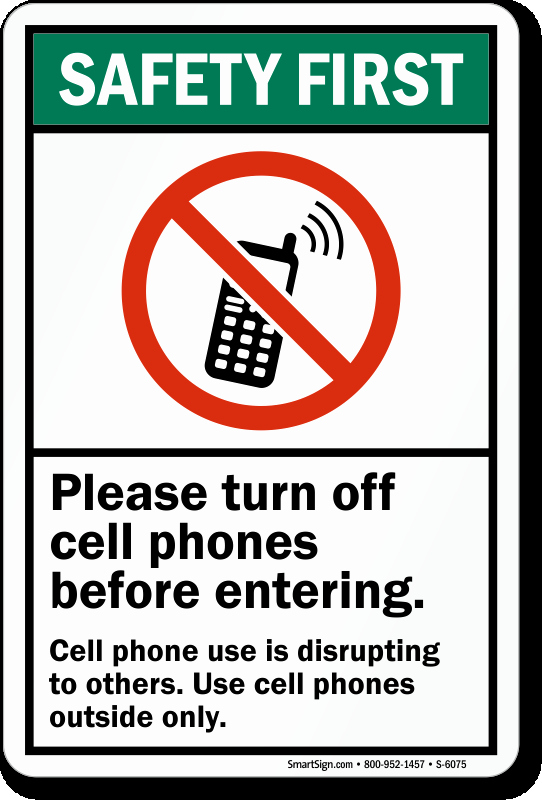 Turn Off Cell Phone Sign Inspirational Turn F Cell Phones before Entering Sign Made In Usa