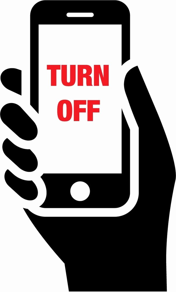 "Turn Off Cell Phone Sign Inspirational Turn F Mobile Phones Car Bumper Sticker 3"" X 5"""