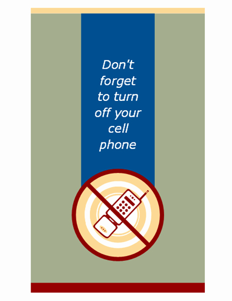 Turn Off Cell Phone Sign Lovely Flyers Fice
