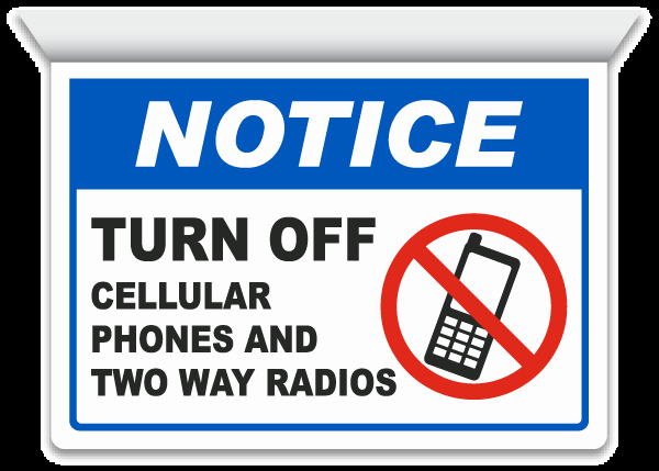 Turn Off Cell Phone Sign Luxury 2 Way Turn F Cell Phones Sign F7234 by Safetysign