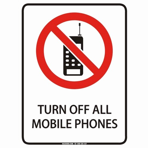 Turn Off Cell Phone Sign Luxury Hazsigns