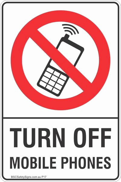 Turn Off Cell Phone Sign New Turn F Mobile Phones Safety Sign Prohibited Stickers