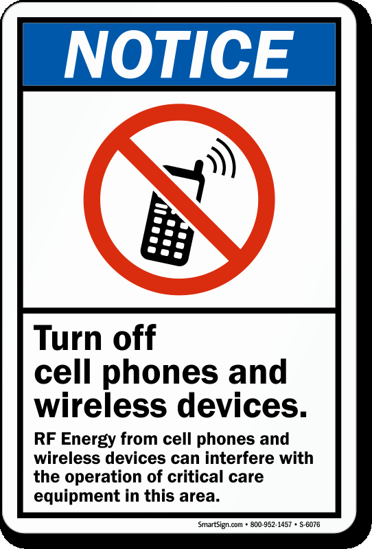 Turn Off Cell Phones Sign Awesome Turn F Cell Phone and Wireless Devices Sign