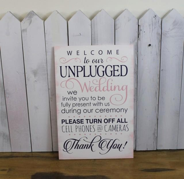Turn Off Cell Phones Sign Awesome Wedding Sign Unplugged Wedding Sign Turn F Cell Phones