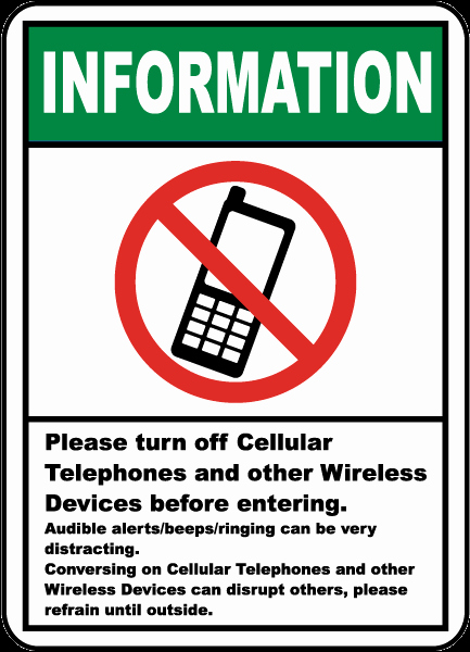 Turn Off Cell Phones Sign Beautiful Please Turn F Cell Phone Sign F7217 by Safetysign