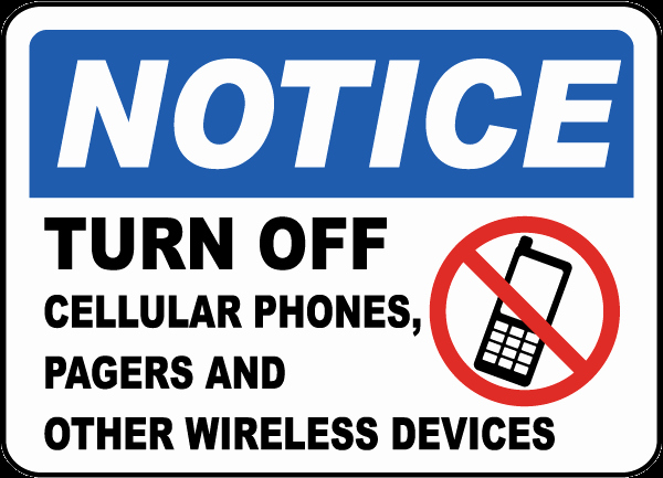 Turn Off Cell Phones Sign Beautiful Turn F Cellular Phones Pagers Sign F7233 by