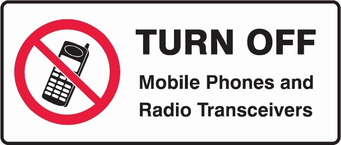 prohibition signs turn off mobile phones and radio transceivers s0144