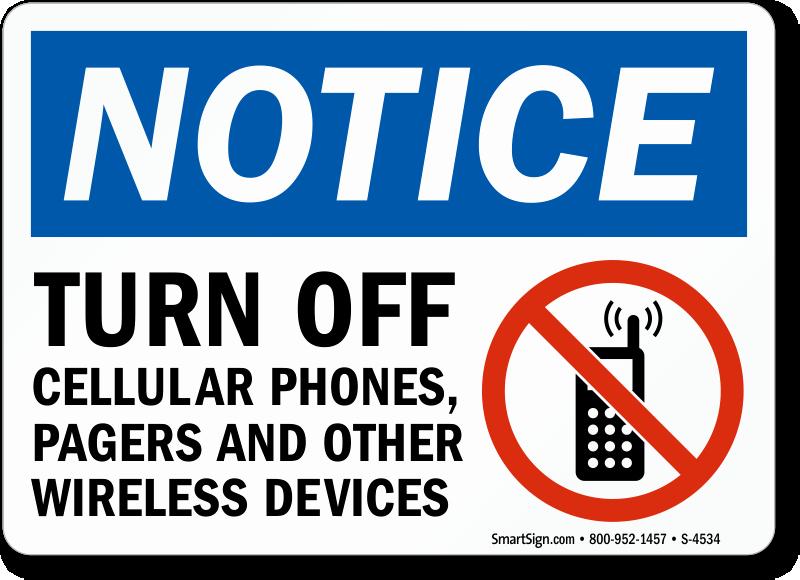 Turn Off Cell Phones Sign Elegant Turn F Cellular Phones Sign Sku S 4534