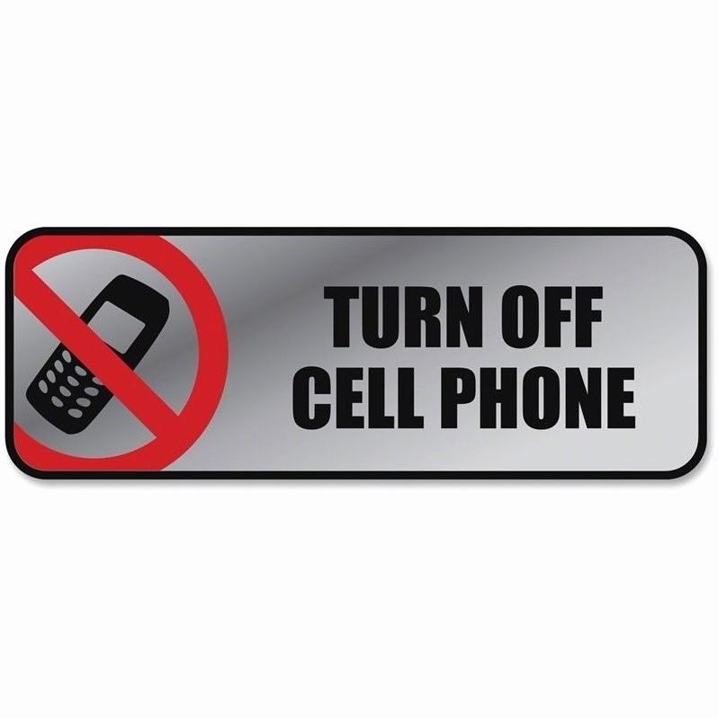 Turn Off Cell Phones Sign Inspirational Cosco Turn F Cell Phone Image Message Sign Set Of 2