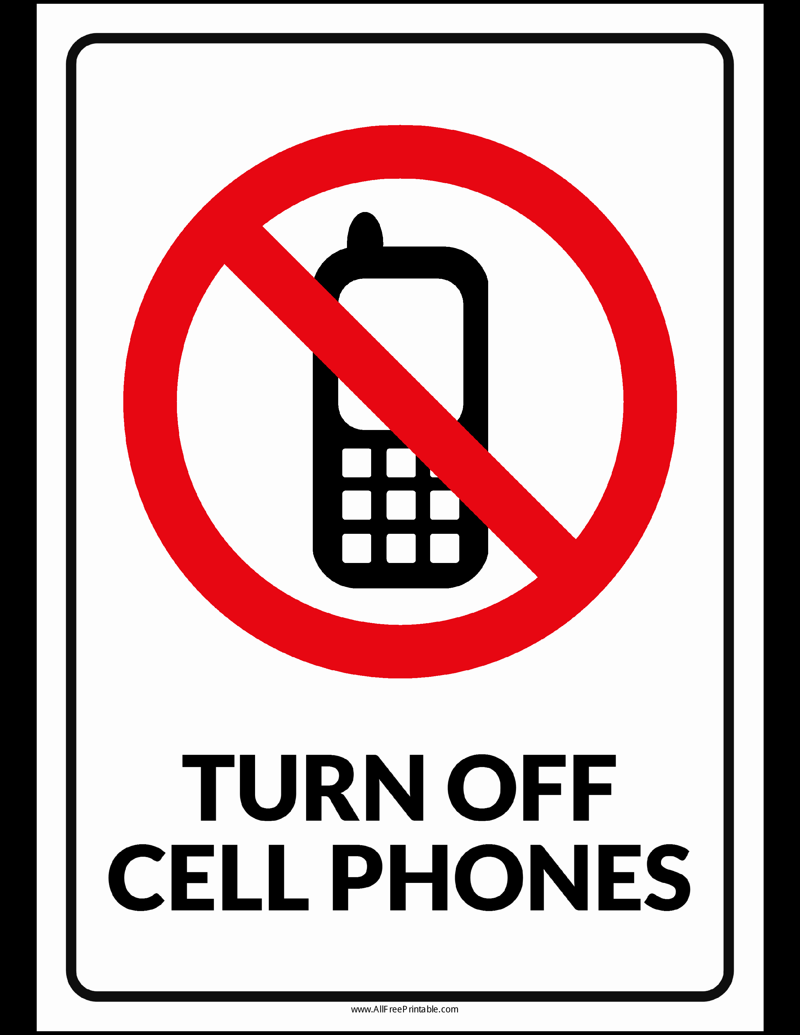 Turn Off Cell Phones Sign Lovely Free Turn F Cell Phones Sign