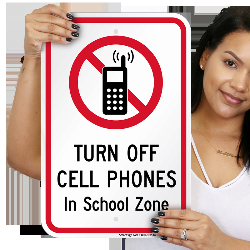 Turn Off Cell Phones Sign New Turn F Cell Phones In School Zone Sign No Cell Phone