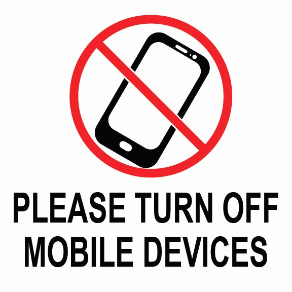 "Turn Off Cell Phones Sign Unique Please Turn F Mobile Devices Sign 8"" X 8"""