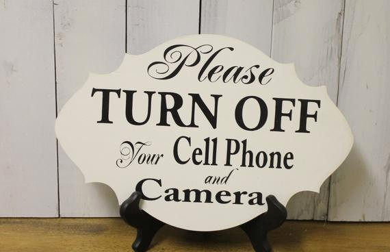 Turn Off Cell Phones Sign Unique Please Turn Off Your Cell Phones Camera Ceremony Sign event