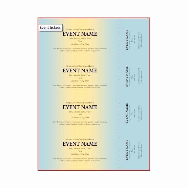 Two Part Raffle Tickets Template Awesome 1000 Images About Ticket Designs On Pinterest