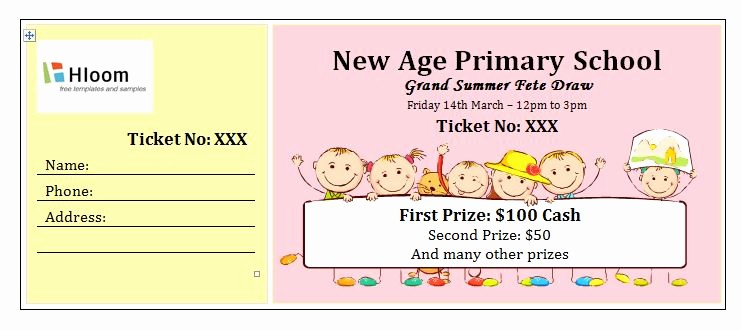 Two Part Raffle Tickets Template Awesome 2 Free Raffle Ticket Templates Word Excel Pdf formats