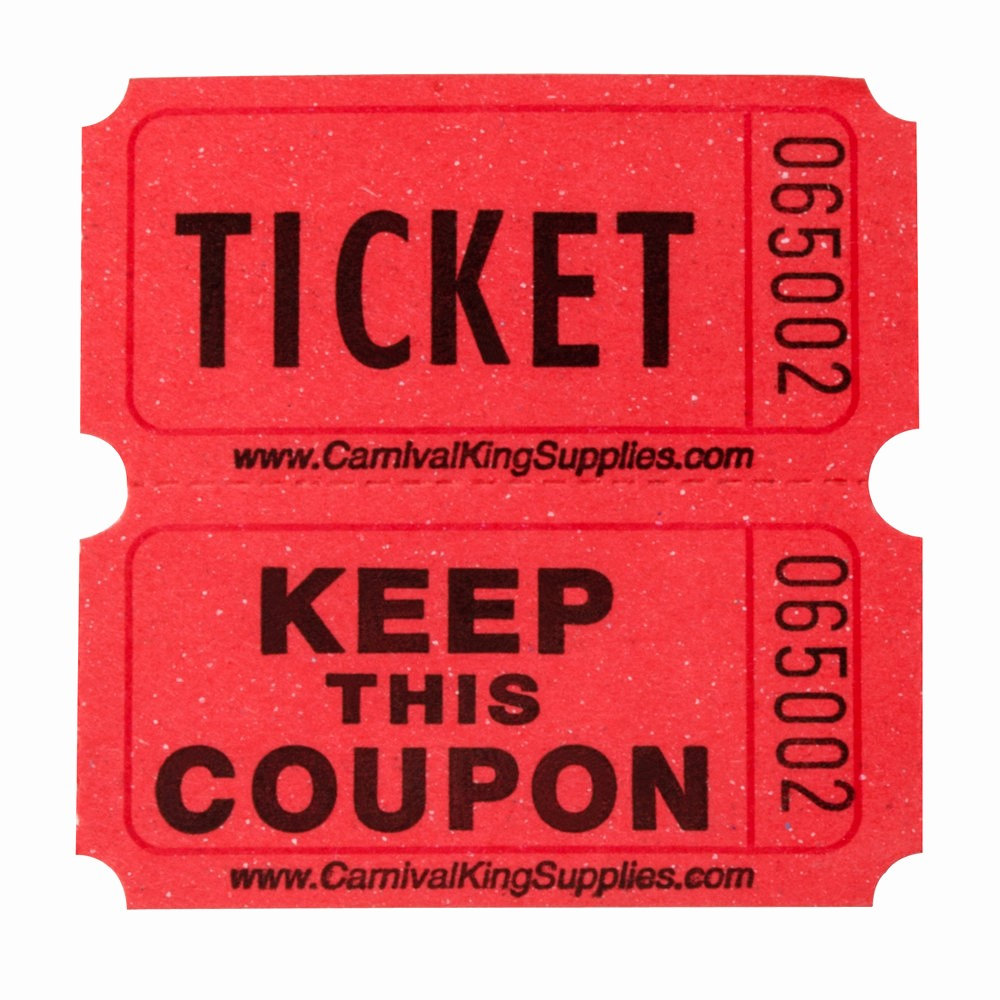 Two Part Raffle Tickets Template Elegant Carnival King Red 2 Part Raffle Tickets 2000 Roll
