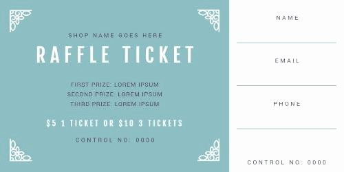 Two Part Raffle Tickets Template Elegant tons Fully Customizable Raffle Ticket Templates