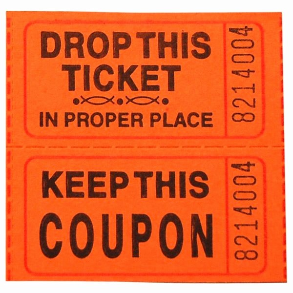 Two Part Raffle Tickets Template Fresh Related Keywords & Suggestions for orange Raffle Tickets