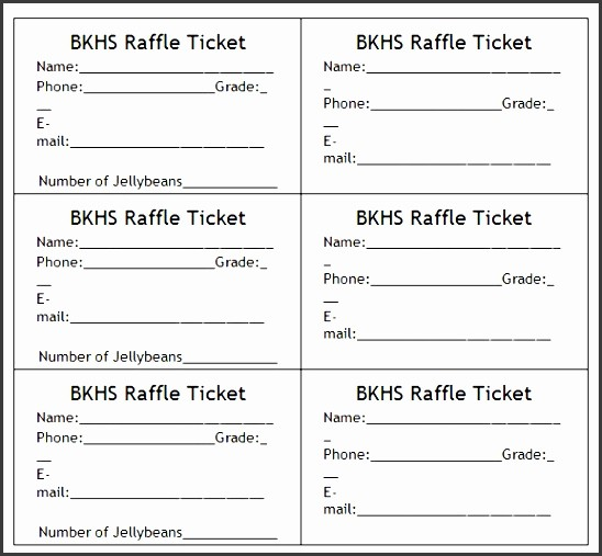 Two Part Raffle Tickets Template Inspirational 8 Raffle Ticket Templates Sampletemplatess