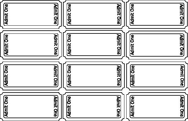 Two Part Raffle Tickets Template Inspirational Blank Tickets 2 Clip Art at Clker Vector Clip Art