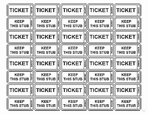 Two Part Raffle Tickets Template Inspirational Template for Tickets Free Ticket Template Free Raffle