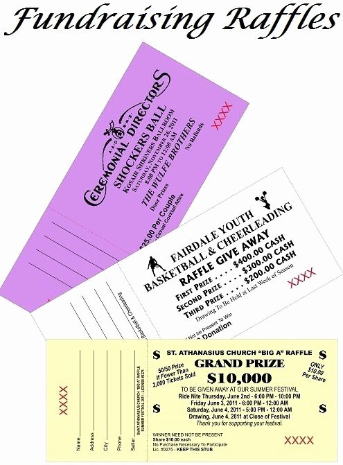Two Part Raffle Tickets Template New Fundraising Raffles Rules & Regulations