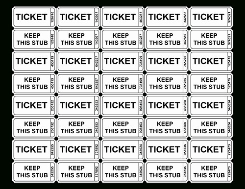 Two Part Raffle Tickets Template Unique Raffle Ticket Template Free Printable