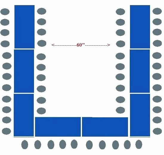 U Shaped Seating Chart Template Fresh Best 25 Banquet Table Decorations Ideas On Pinterest