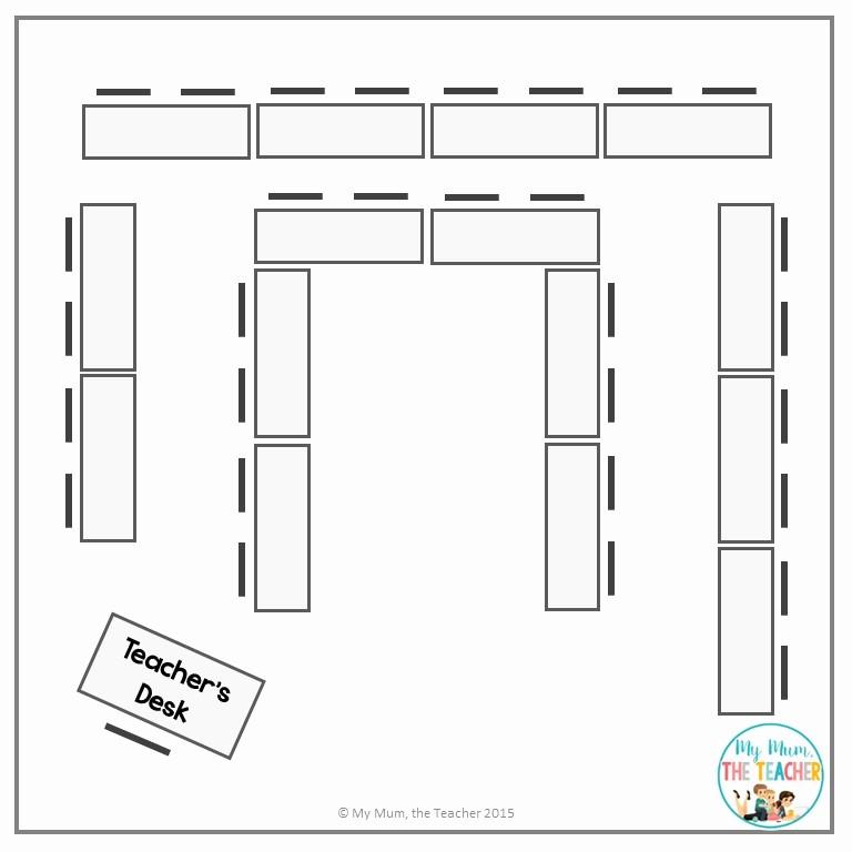 U Shaped Seating Chart Template Fresh My Mum the Teacher Teaching 101 Setting Up Your Classroom