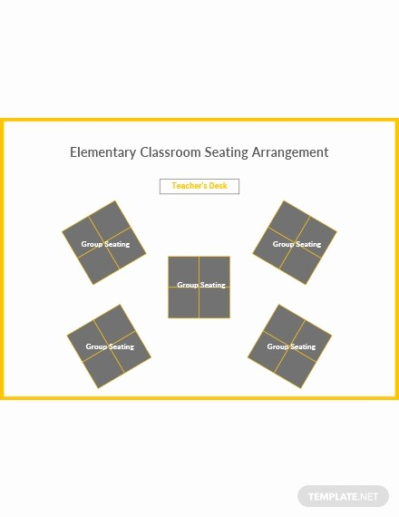 U Shaped Seating Chart Template Unique Free Horseshoe Classroom Seating Arrangements Template In