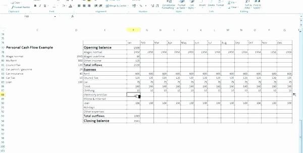 Uca Cash Flow Excel Template Best Of Weekly Cash Flow Template Direct Statement format In Excel