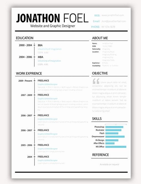 Unique Resume Templates Free Word Awesome Download 35 Free Creative Resume Cv Templates Xdesigns