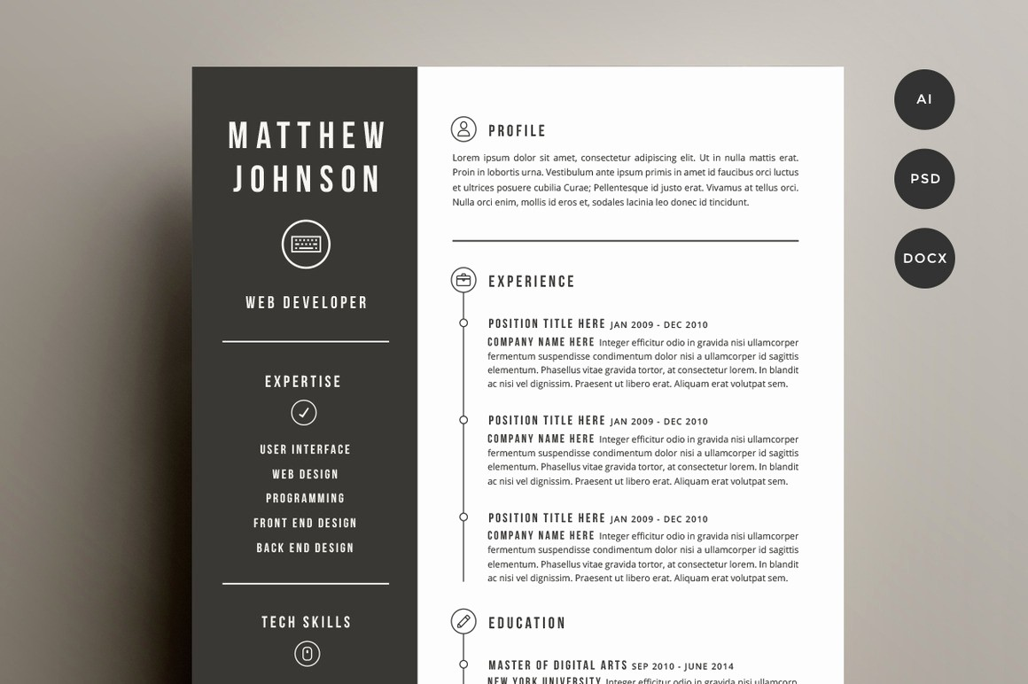 Unique Resume Templates Free Word Beautiful Creative Resume Templates
