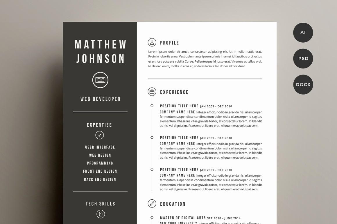 Unique Resume Templates Free Word Beautiful Creative Resume Templates