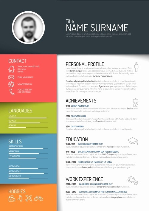 Unique Resume Templates Free Word Inspirational Creative Resume Templates 2017