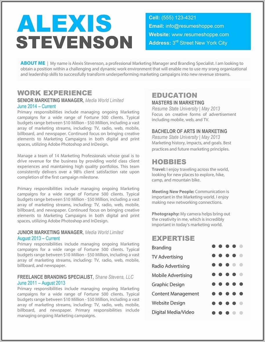 Unique Resume Templates Free Word Inspirational Free Printable Creative Resume Templates Microsoft Word