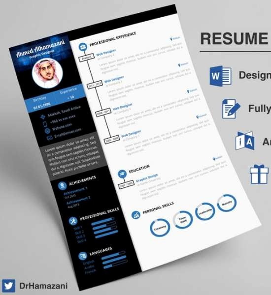 Unique Resume Templates Free Word Lovely 12 Professional Resume Templates In Word format Xdesigns