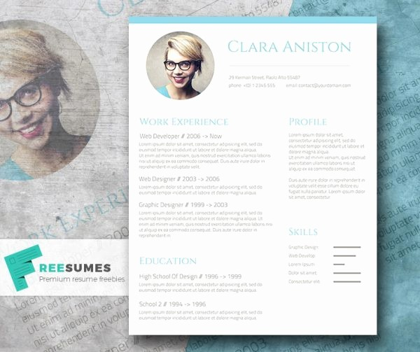 Unique Resume Templates Free Word Luxury 28 Minimal & Creative Resume Templates Psd Word & Ai