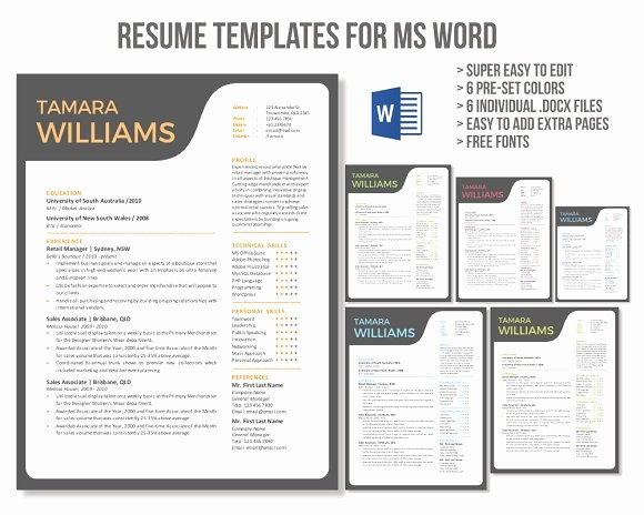Unique Resume Templates Free Word Luxury Unique Creative Word Resume Template Resume Templates