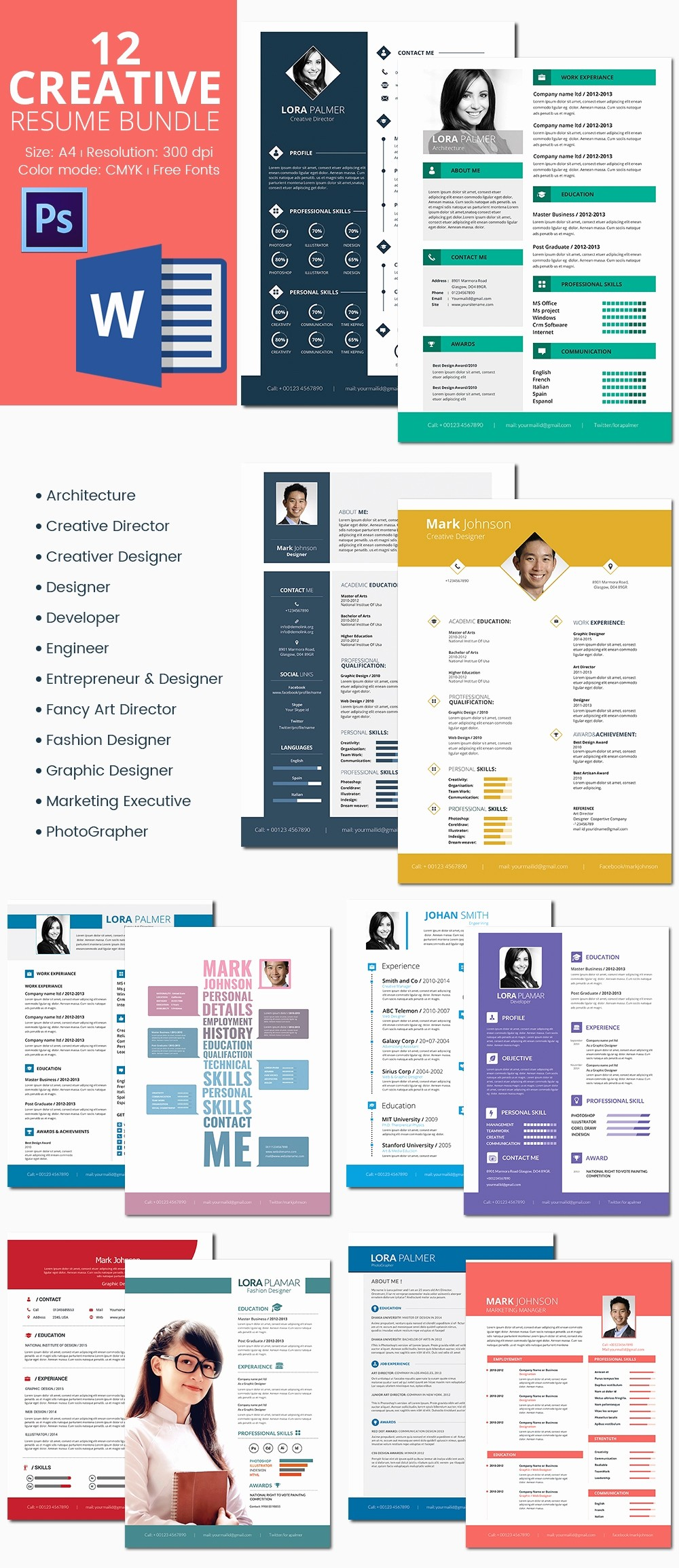 Unique Resume Templates Free Word New 41 E Page Resume Templates Free Samples Examples